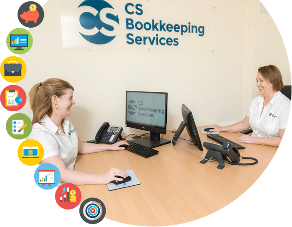 Claire, Louse and Joanne from the CS Bookkeeping Services team